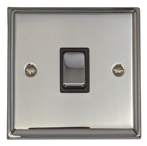 G&H DC301 Deco Plate Polished Chrome 1 Gang 1 or 2 Way Rocker Light Switch